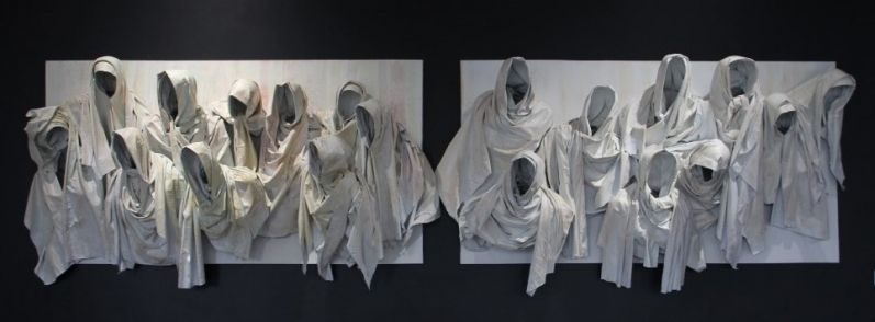 """all scarves go to heaven 48"""" by 87"""" per panel"""