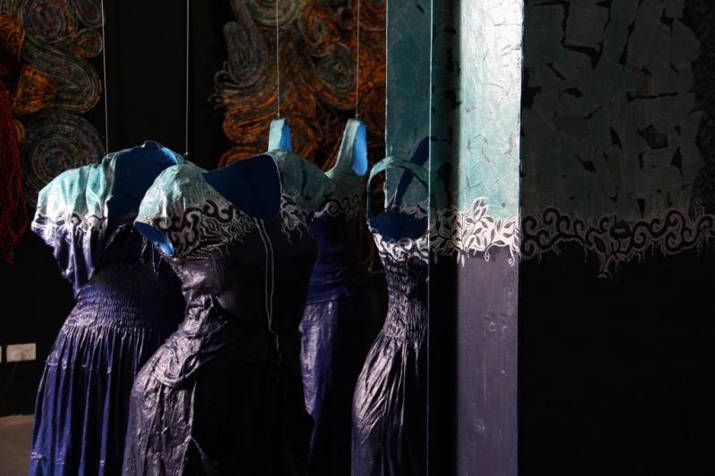 doors blue door details